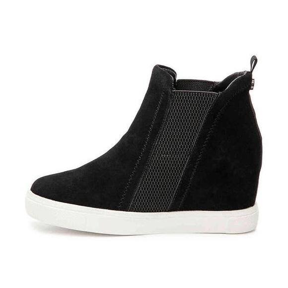 Leii Black High Top Wedge Sneakers